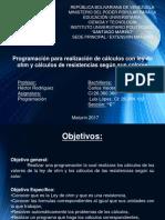 Presentación programacion