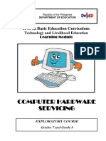 Exploratory Course - Computer Hardware Servicing for G 7and 8
