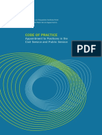 Code of Practice for Appointment to Positions in the Civil Service and Public Service