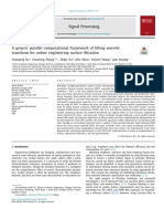 2019 a Generic Parallel Computational Framework of Lifting Wavelet Transform for Online Engineering Surface Filtration