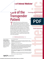 Care of the Transgender Patient