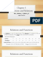 Lecture 1 - Relations and Functions