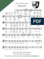 Ostalbkreis-Hymne - Hans-Peter Feil LIEDBLATT Hochkant s/w