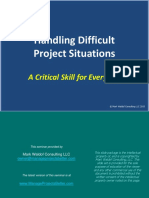 Handling Difficult Project Situations