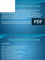 Oracle DBA Overview July 19