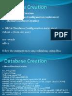 Oracle Database Creation