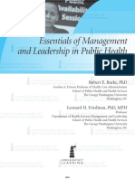 Essential of Management and Leadership in Public Health