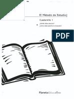 El Método de Estudio. Cuadernillo 1