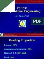 PS1351 Computational Engineering(Tavio Lecture1)