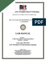 PPL Lab Manual