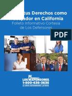 Tus Derechos Como Trabajador en California
