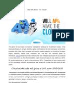 Will APIs Mimic the Cloud