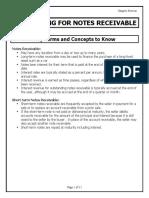 Notes Receivable - CR