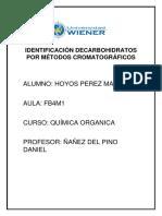 Identificación Decarbohidratos Por Métodos Cromatográficos