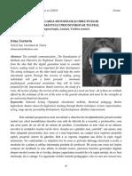 15 Irina Scutariu  Reevaluarea metodelor şi obiectivelor învăţământului preuniversitar teatral. Improvizaţie, lectură, vorbire scenică