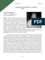 39 Dominic Dembinski Specificitatea creativităţii regizorului – actorului (partea I)