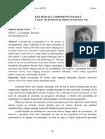 26 Maria Elena Peici  Scenografia digitală, componentă plastică a decorului  de film, televiziune și media în secolul XXI