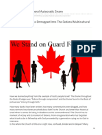 The Canadian Federal Autocratic Snare