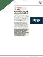 L'incredibile vetrina di Corso Garibaldi 66 - Il Corriere Adriatico del 2 luglio 2019