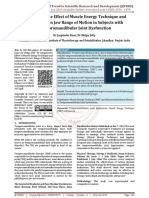 To Compare the Effect of Muscle Energy Technique and Ultrasound on Jaw Range of Motion in Subjects with Temporomandibular Joint Dysfunction