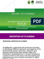 Foundation of Planning for CDC