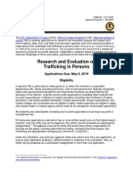 Research and Evaluation on Trafficking in Persons