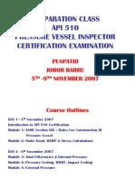 Pressure Vessel Inspector Certification - By Puspatri