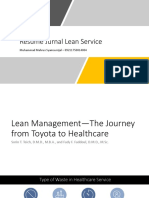 Resume Lean Management—The Journey from Toyota to Healthcare