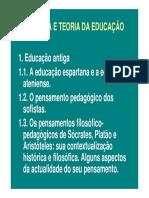 HISTÓRIA E TEORIA DA EDUCAÇÃO
