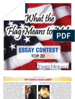 Washington IN Times Herald Flag Essay Contest 2019