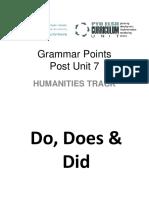 Grammar Activities- Humanities Track