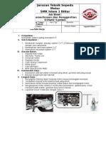 JOBSHEET CVT sepeda motor