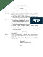 1. contoh SK Kapus tentang Pemberlakuan Pedoman Penyelenggaraan UKP.docx