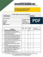 Schools Checklist