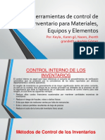 Herramientas de Control de Inventario Para Materiales,