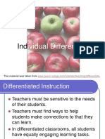Teaching Individual Differences