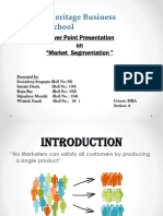 Ppt on Market Segmentation