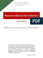Alain Badiou RESUMO DO Pequeno Manual de Inestetica