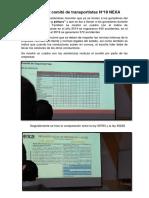 Informe Del Comité de Transportistas Nexa