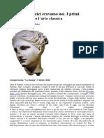 I Primi Cristiani Contro l'Arte Classica