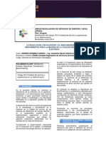 La Regulacion, Fiscalizacion y El Benchmarking
