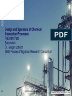 Design and Synthesis of Chemical Absorption Process
