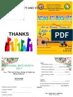 PROGRAM in Arts Month