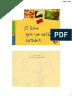 EL LEON QUE NO SABIA ESCRIBIR.pdf