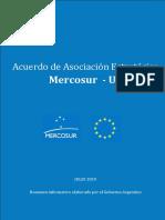 Resumen Acuerdo Mercosur-UE elaborado por Gobierno