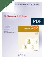 Moyano and Feener. 2014. Nest Relocation in the Ant Pheidole Dentata