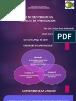 Fase de Ejecución de Un Proyecto de Investigación Upel 2019
