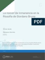 tesis filosofia, la nocion de inmanencia.pdf