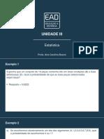 [Slides] Estatística  – Unidade III.pdf