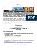 Job Advert - 03.07.2019 Maintenance